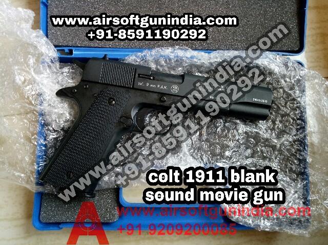 Colt Government 1911 A1 Black Cal 9mm Blank Gun By Airsoft Gun India
