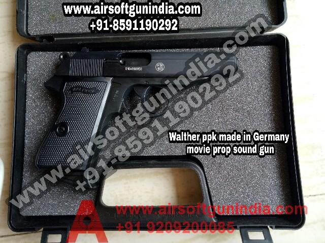Umarex Walther PPK Black Cal 9mm Blank Gun By Airsoft Gun India
