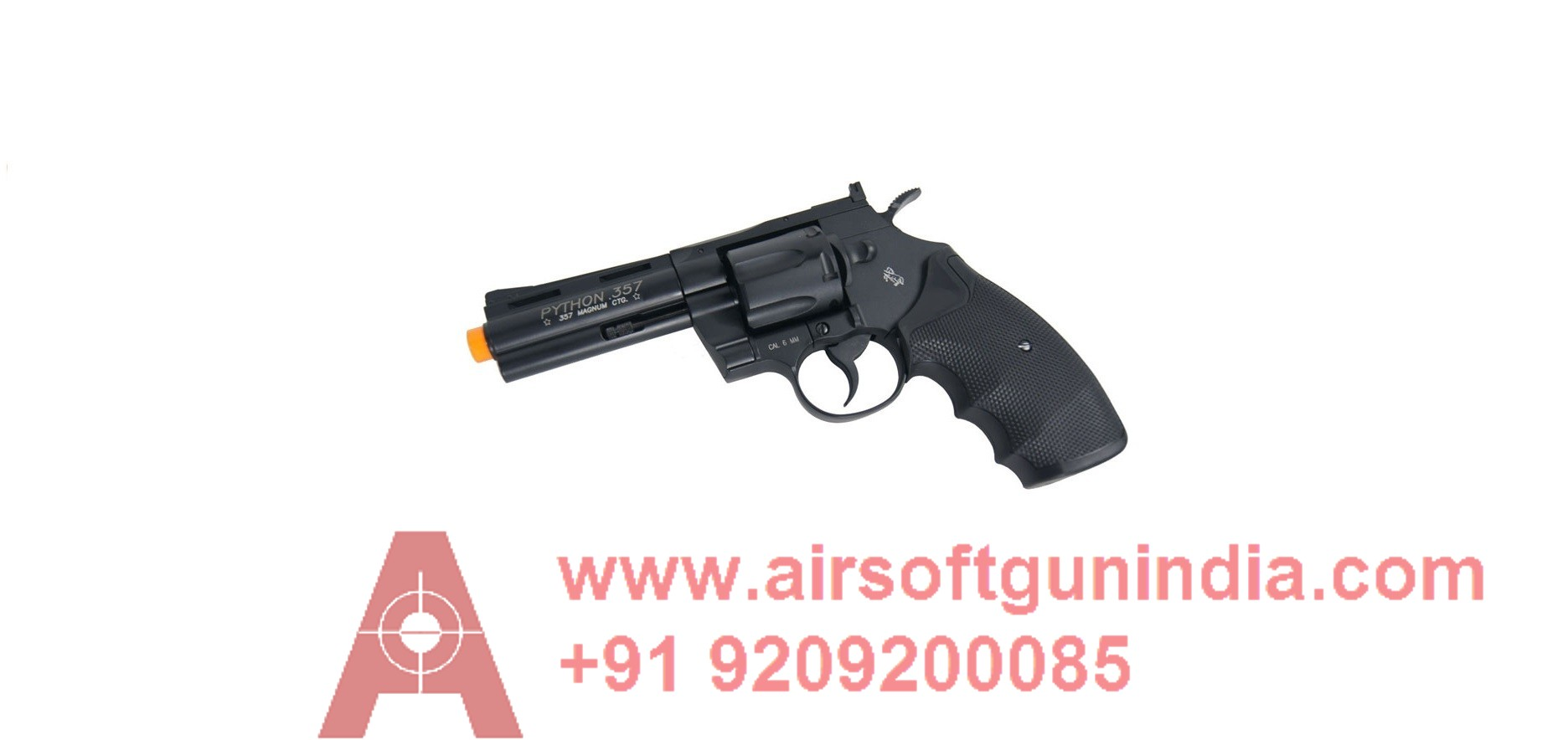 KWC Model 357 CO2 Revolver (2.5 Inch, 6mm) By AirSoft Gun India