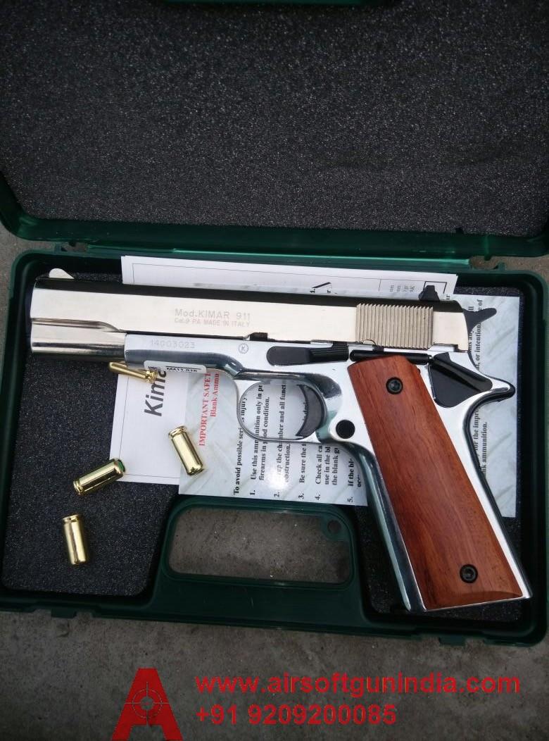 Chrome Colt 1911 Based Kimar M1911 Front Firing Blank Gun In India