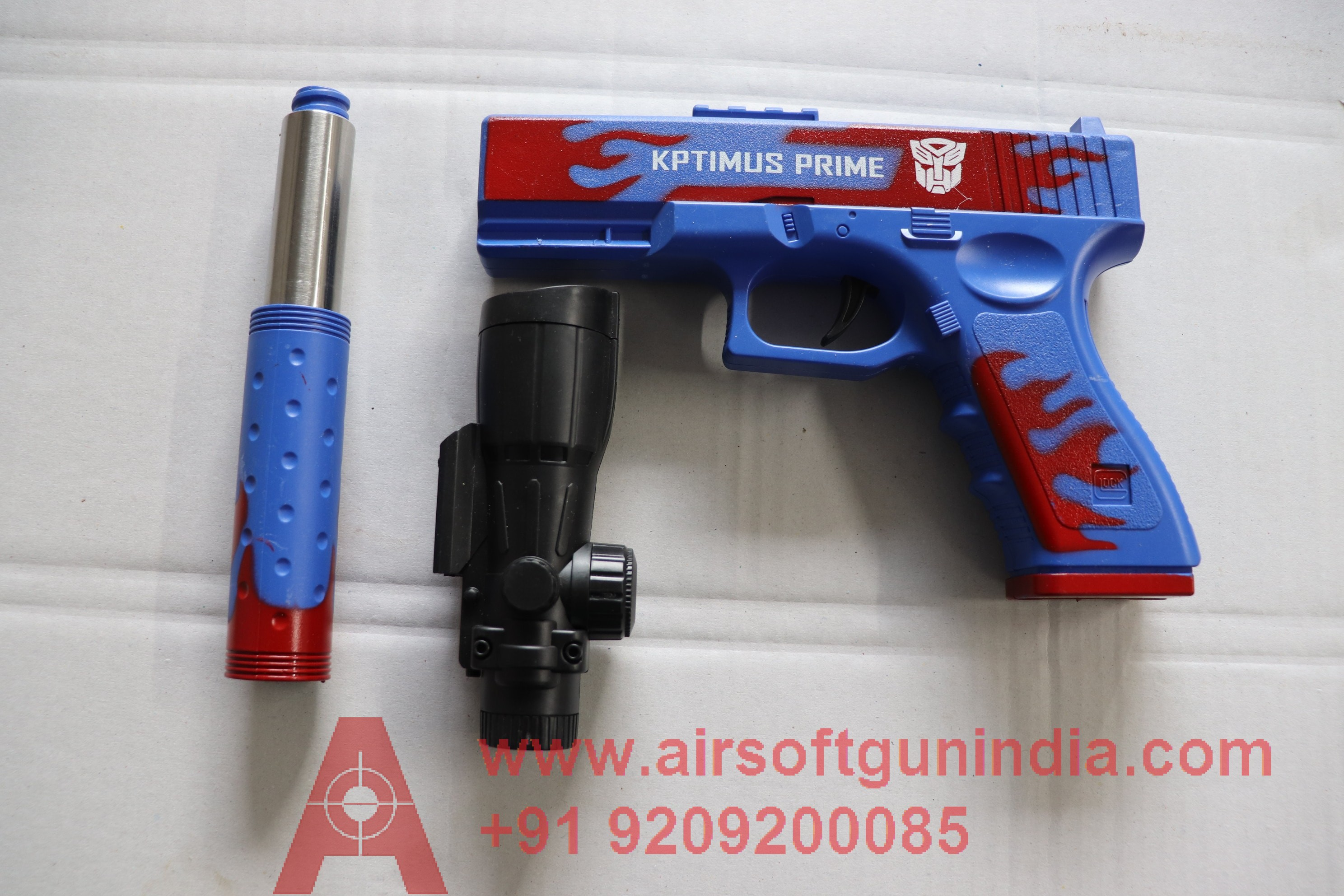 GLOCK 17 BLUE  AIRSOFT SPRING PISTOL BY AIRSOFT GUN INDIA