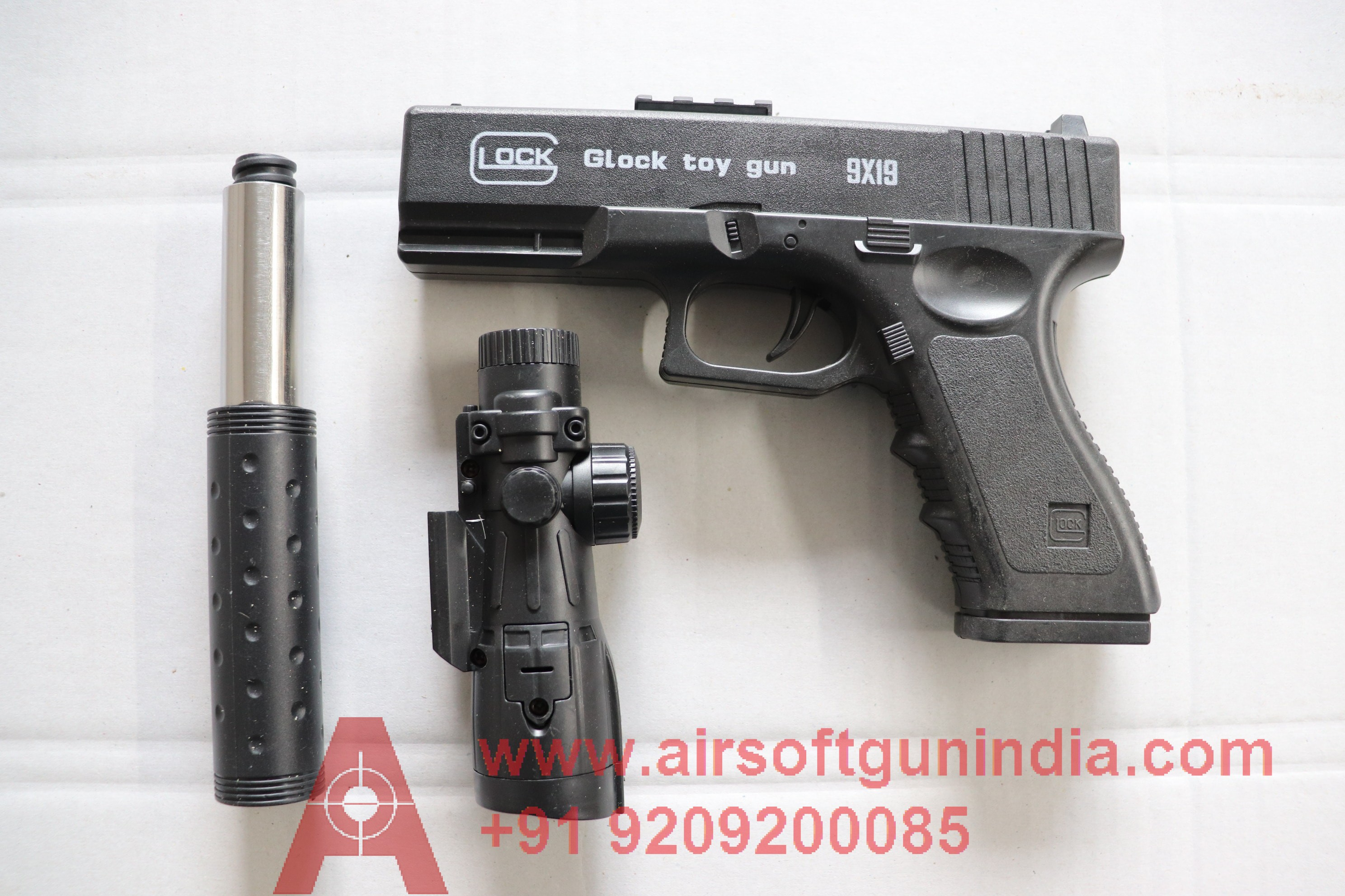 GLOCK 17 BLACK AIRSOFT SPRING PISTOL BY AIRSOFT GUN INDIA