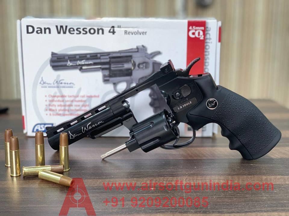 Dan Wesson 4inch  CO2 BB Revolver Black By Airsoft Gun India