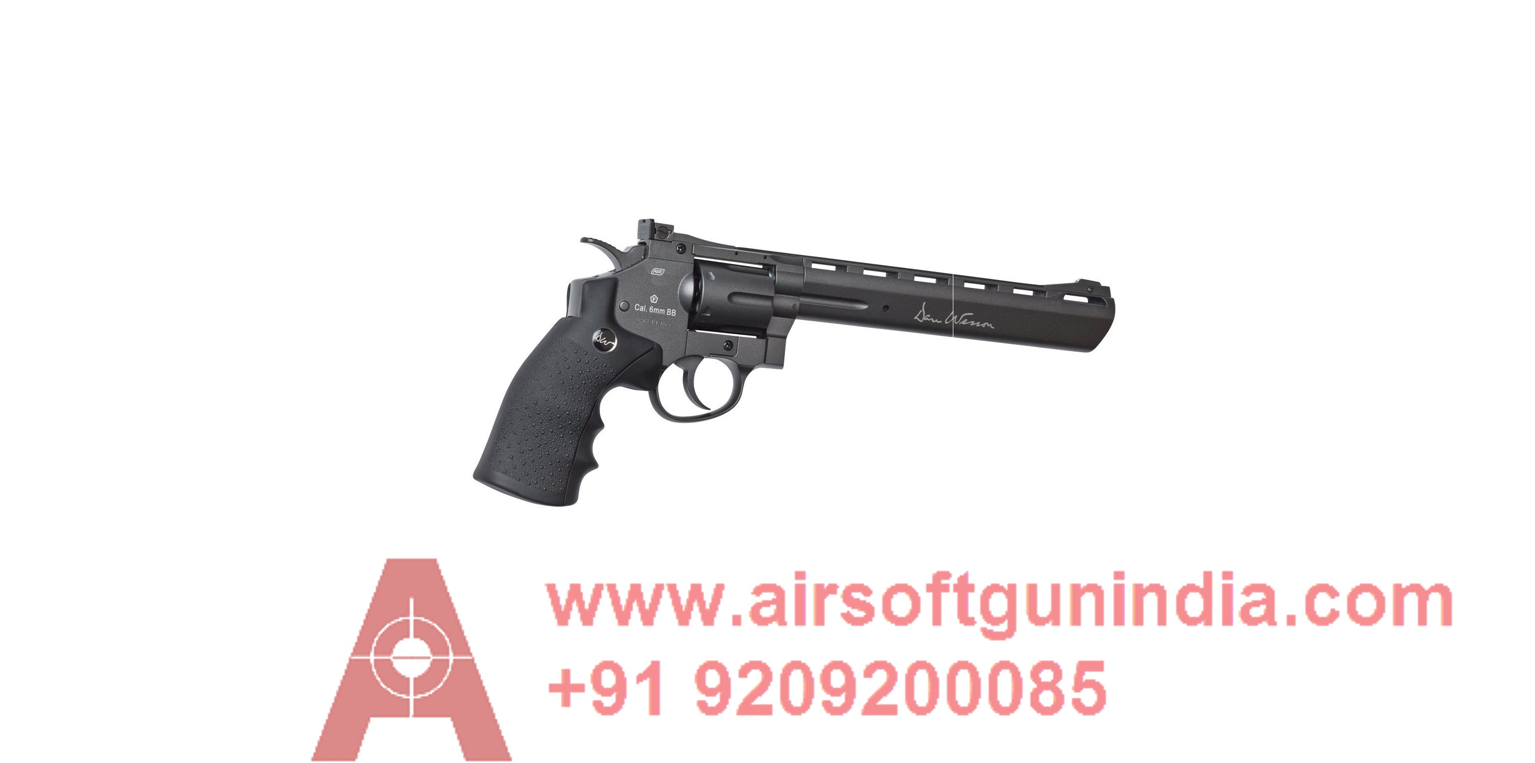ASG Licensed Dan Wesson WG CO2 Full Metal High Power Airsoft 6mm Magnum Gas Revolver