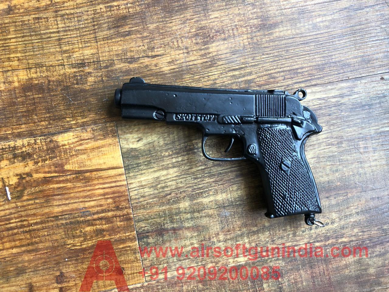 CORK GUN BERETTA STYLE BLACK  BY AIRSOFT GUN INDIA ( SOUND GUN ) FOR CROP PROTECTION