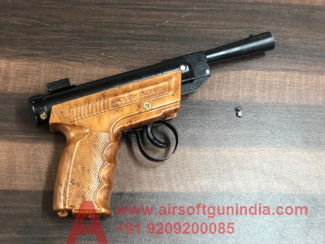 Power Sports Air Pistol By Airsoft Gun India Wooden Texture
