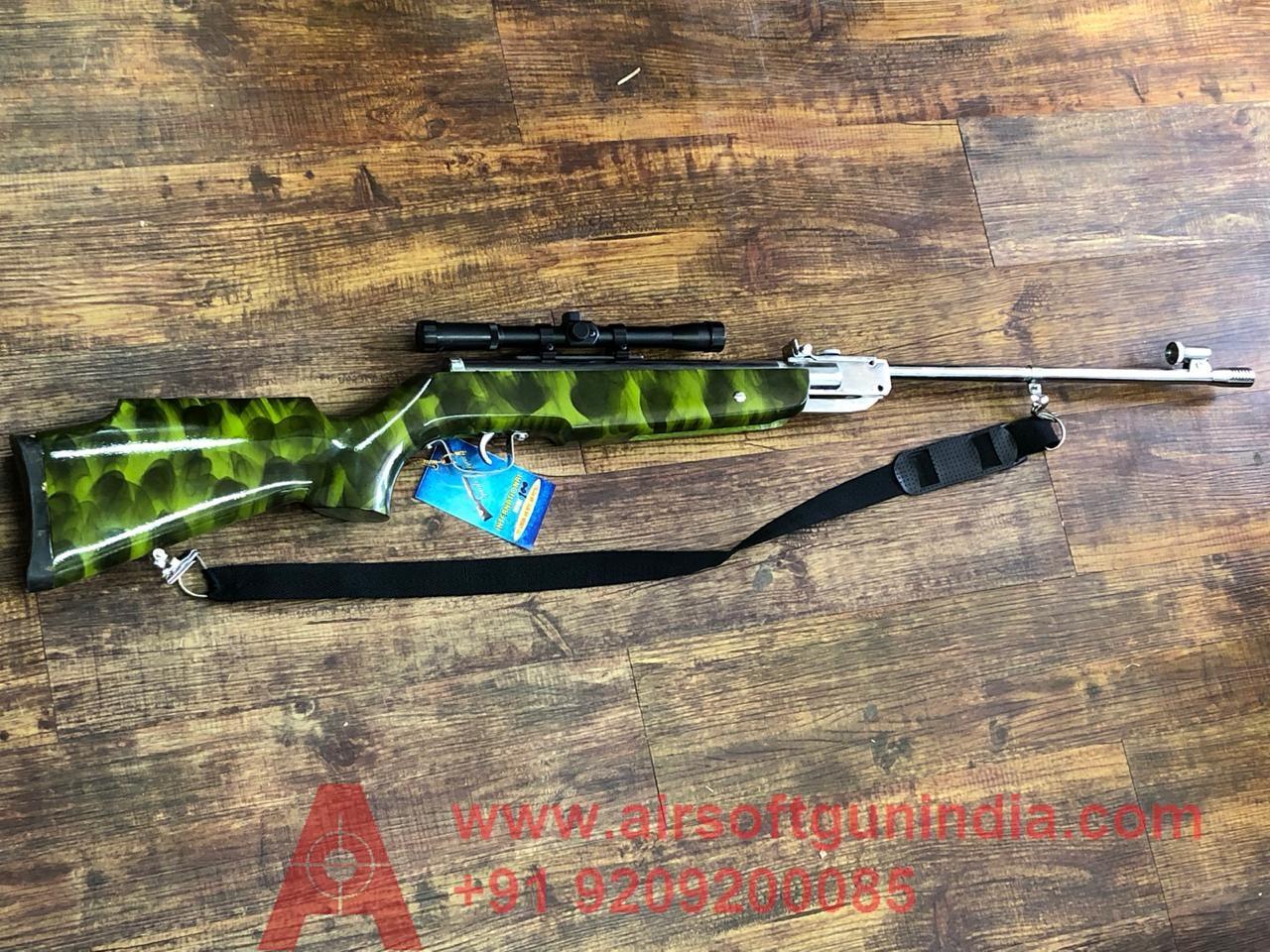 MARK 100 CHEETAH GREEN AIR RIFLE .177 BY AIRSOFT GUN INDIA