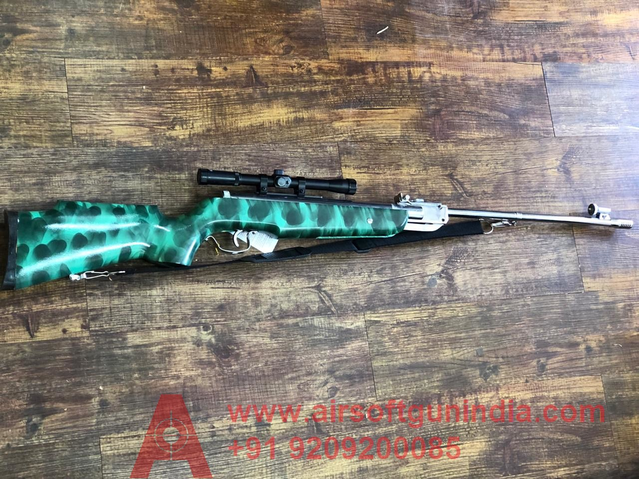 MARK 100 CHEETAH BLUE AIR RIFLE .177 BY AIRSOFT GUN INDIA
