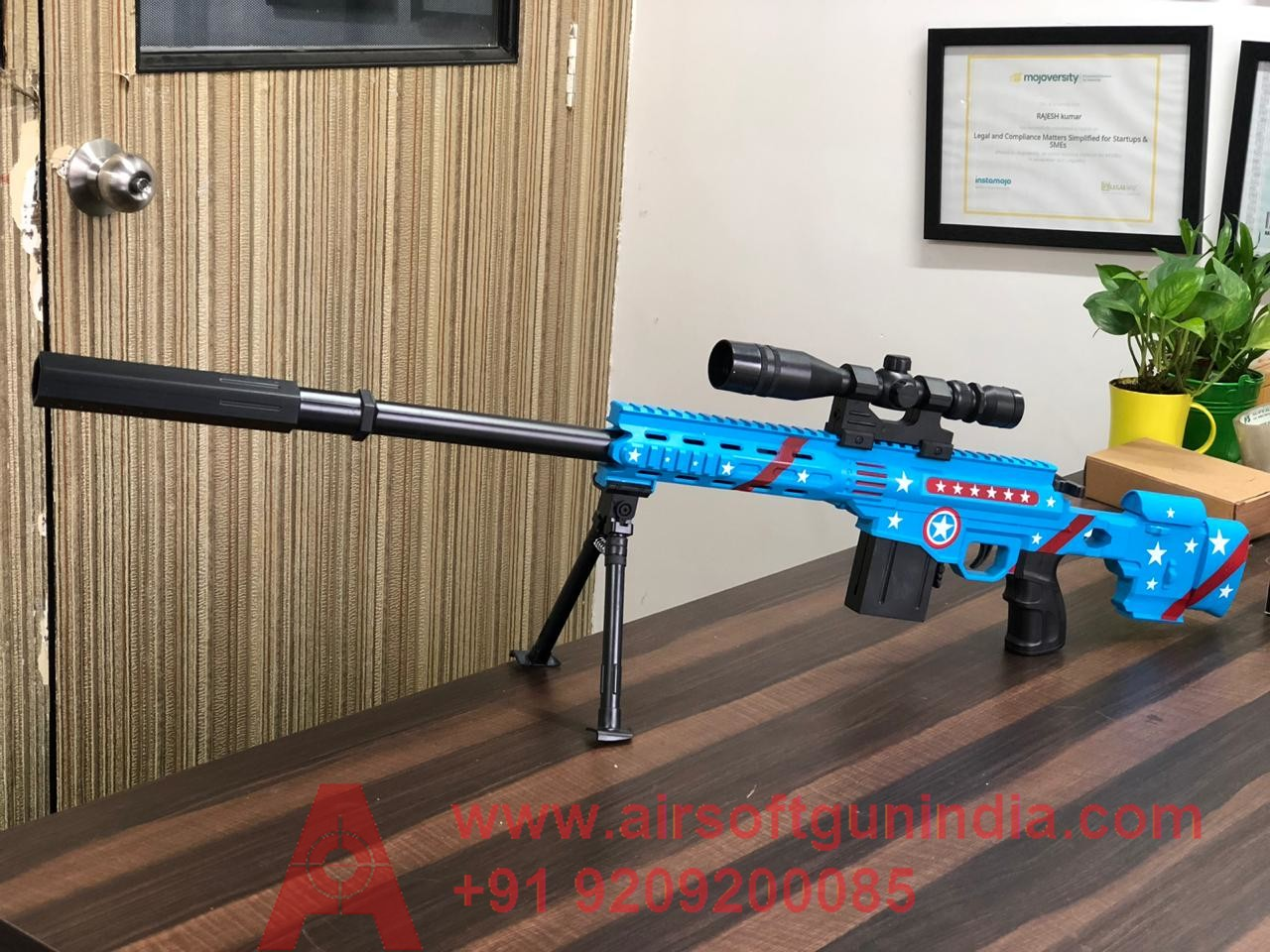 CAPTAIN AMERICA  EDITION AIRSOFT SNIPER RIFLE BY AIRSOFT GUN INDIA