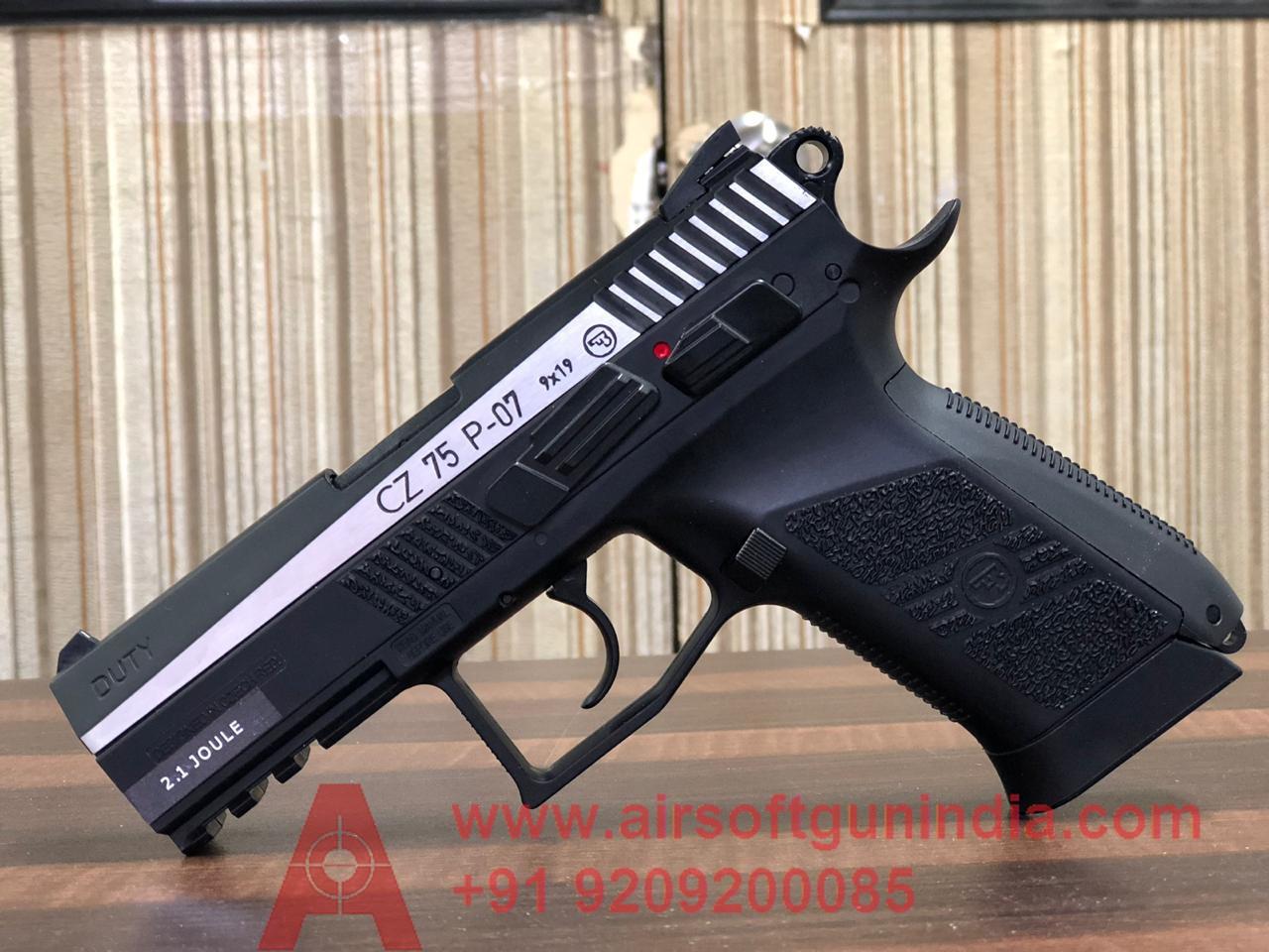 CZ 75 P-07 Duty Dual-Tone CO2 Air  Pistol By Airsoft Gun India
