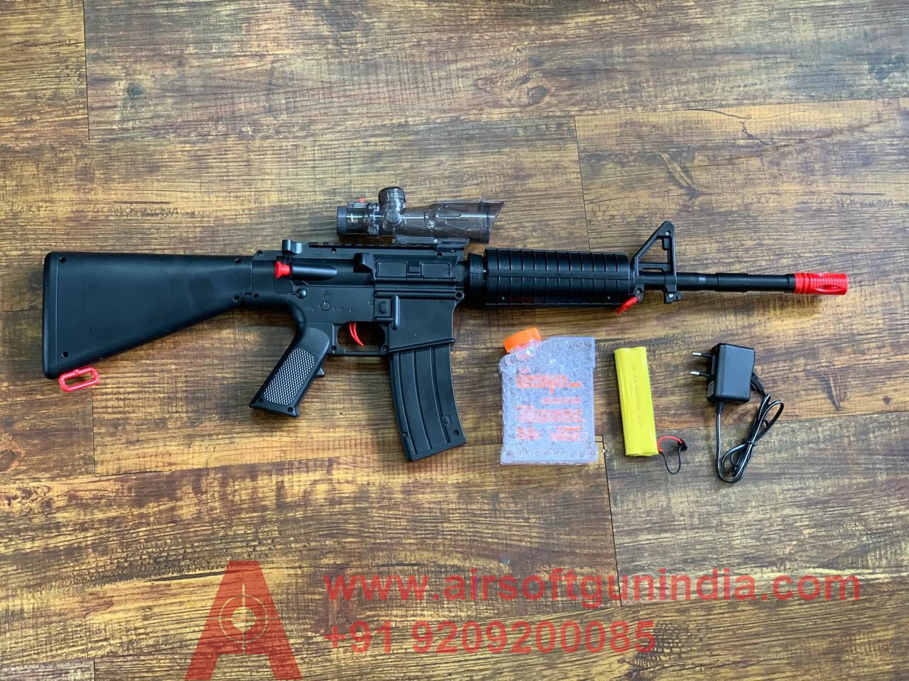 Pubg M16 Electric Automatic  Airsoft Gel Blaster By Airsoft Gun India