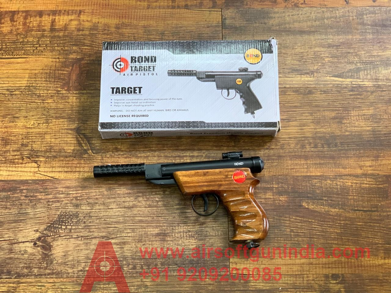 Bond Target Wooden Air Pistol Air Gun In India