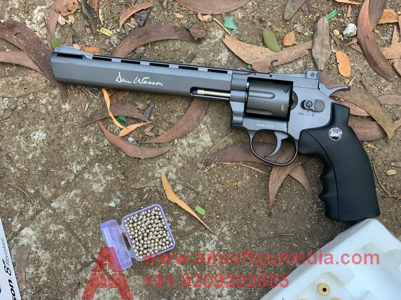 Dan Wesson 8 Inch  CO2 BB Revolver, Black By Airsoft Gun India