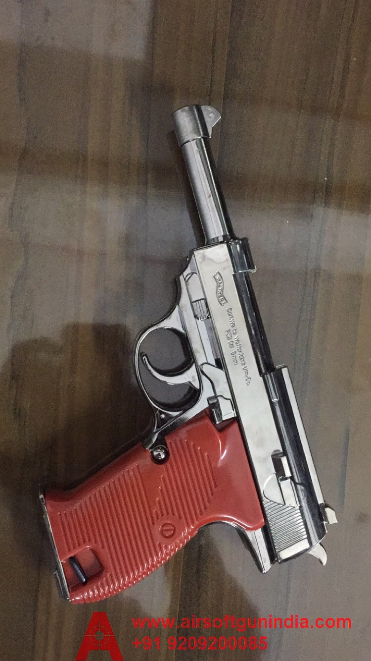 Walther P38 Chrome Cigarette Lighter By Airsoft Gun India