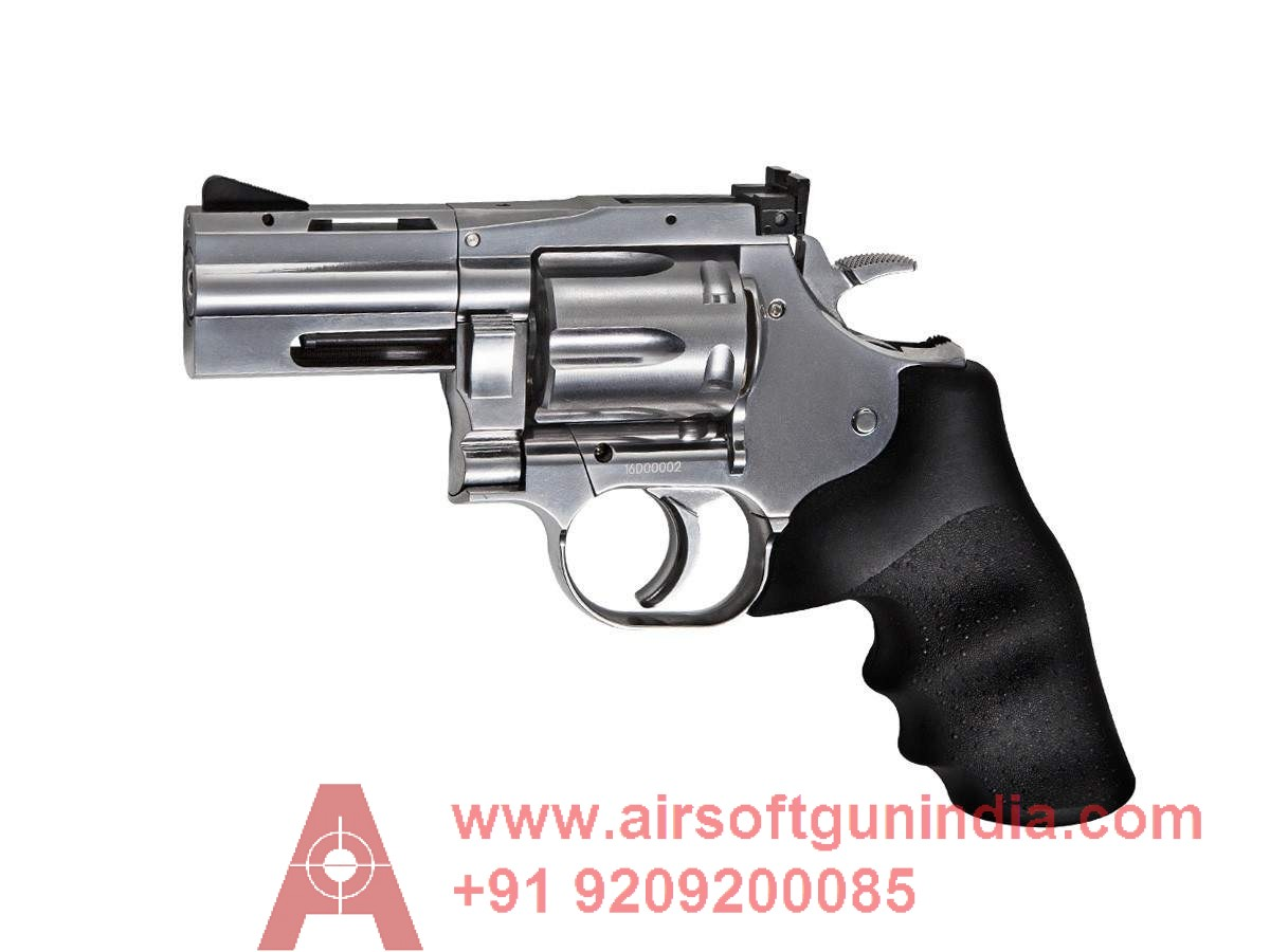 Dan Wesson 715 2.5 Inch  CO2 Pellet Revolver, Silver By Airsoft Gun India