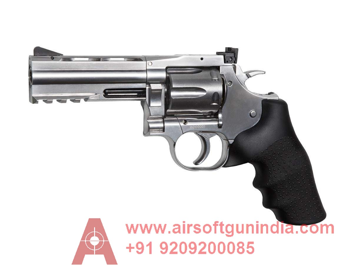 Dan Wesson 715 4 Inch  Pellet Revolver, Silver By Airsoft Gun India