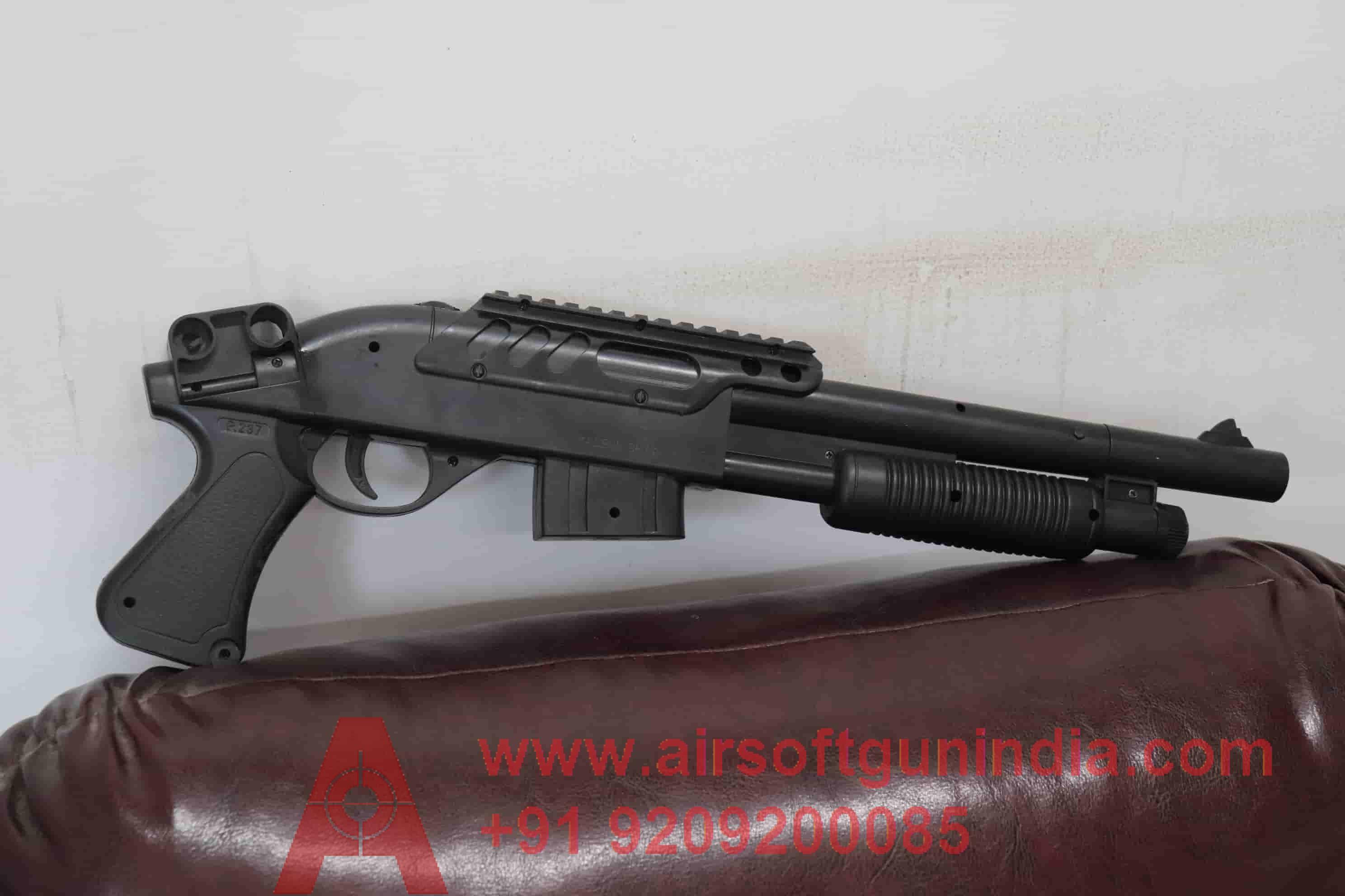 Full Black Air Soft Shot Gun By Air Soft Gun India