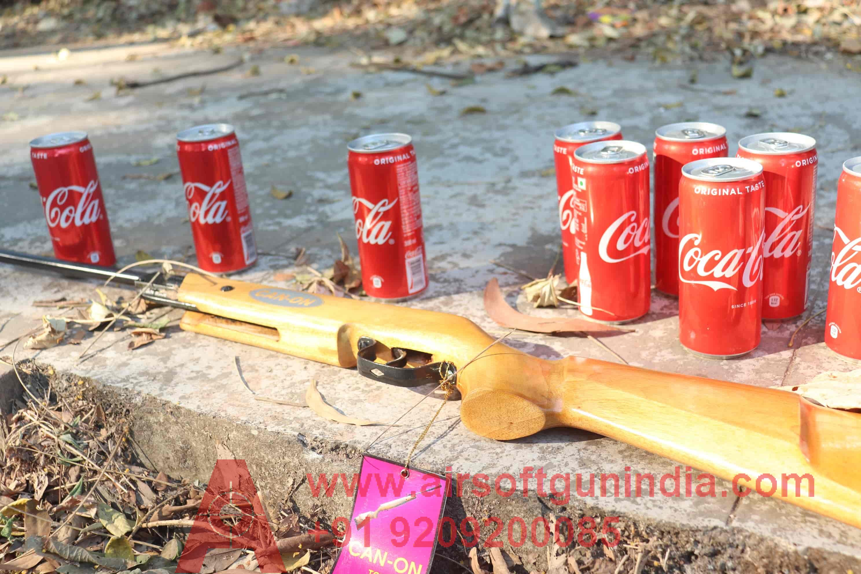 Canon Air Rifle .177 For Shooting Light  Brown Color Air Rifle In India