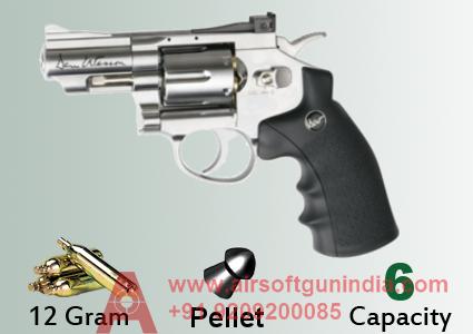 Dan Wesson 2.5 Inch CO2 Pellet Revolver, Silver