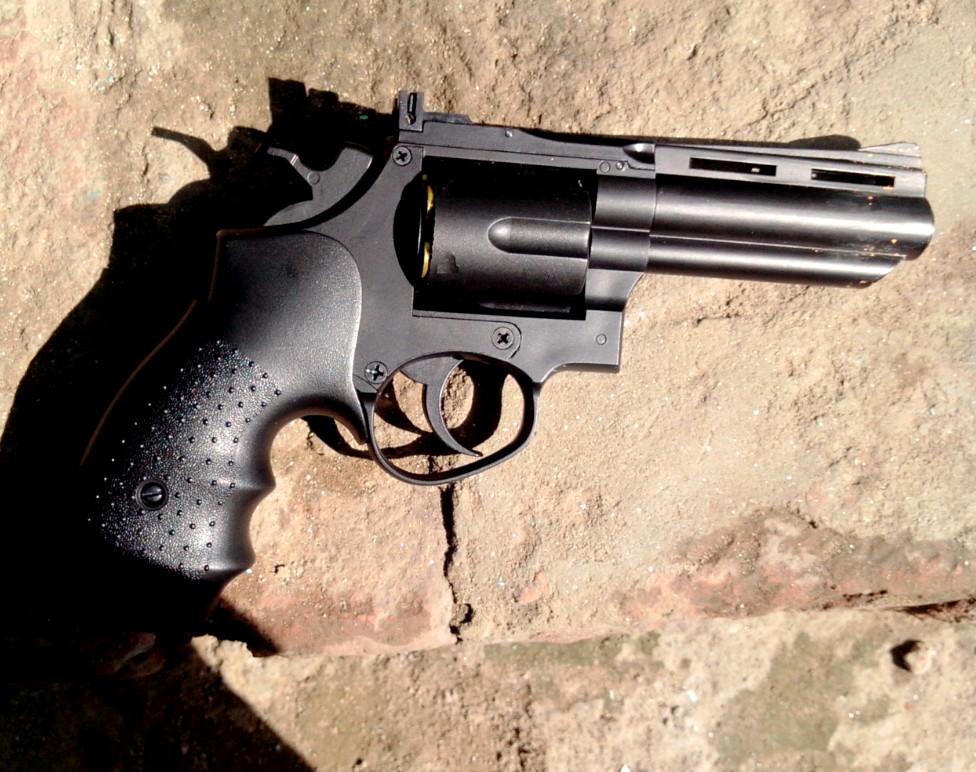 HFC HG-132 6mm Gas Magnum Revolver ( Black )by AirSoft Gun India