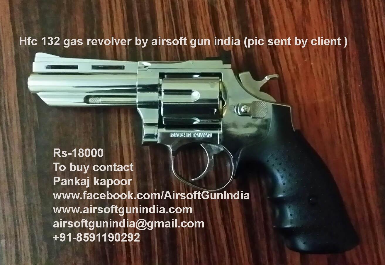 HFC HG-132 6mm Gas Magnum Revolver (Chrome)