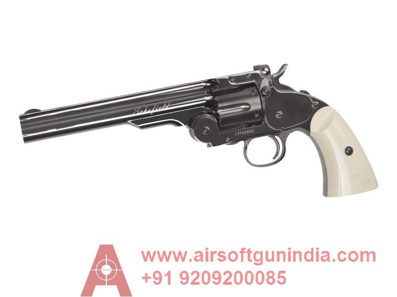 SCHOFIELD REVOLVER 6 Inch STEEL GRAY CO2 4.5MM BB BY AIRSOFT GUN INDIA