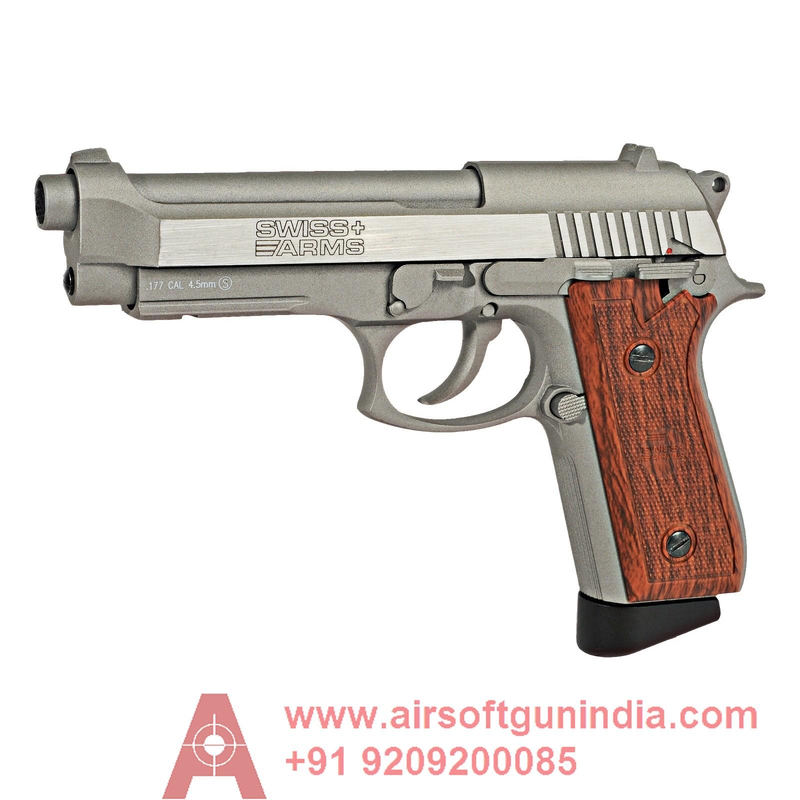 Beretta M9 Style Swiss Arms P92 CO2 Pistol Nickel
