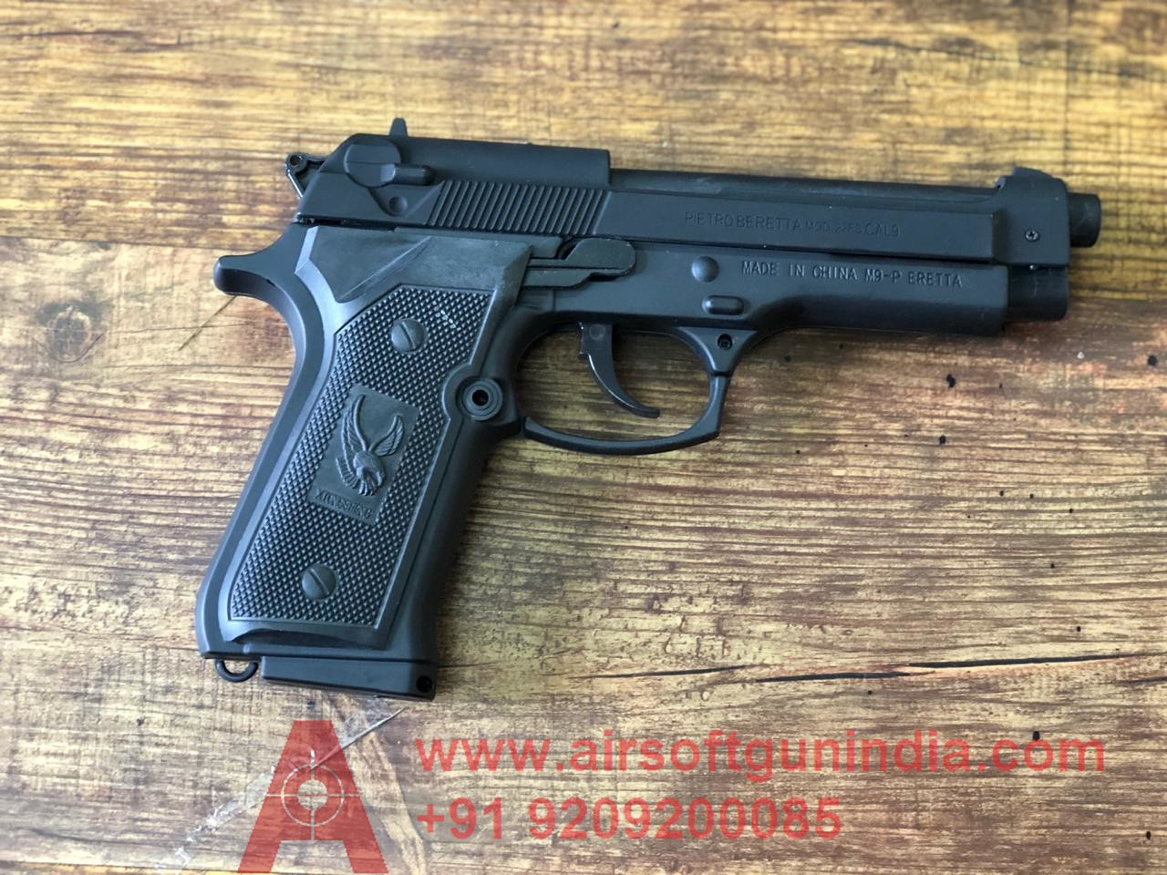 Beretta 9mm Black Cigarette Lighter Replica Gun