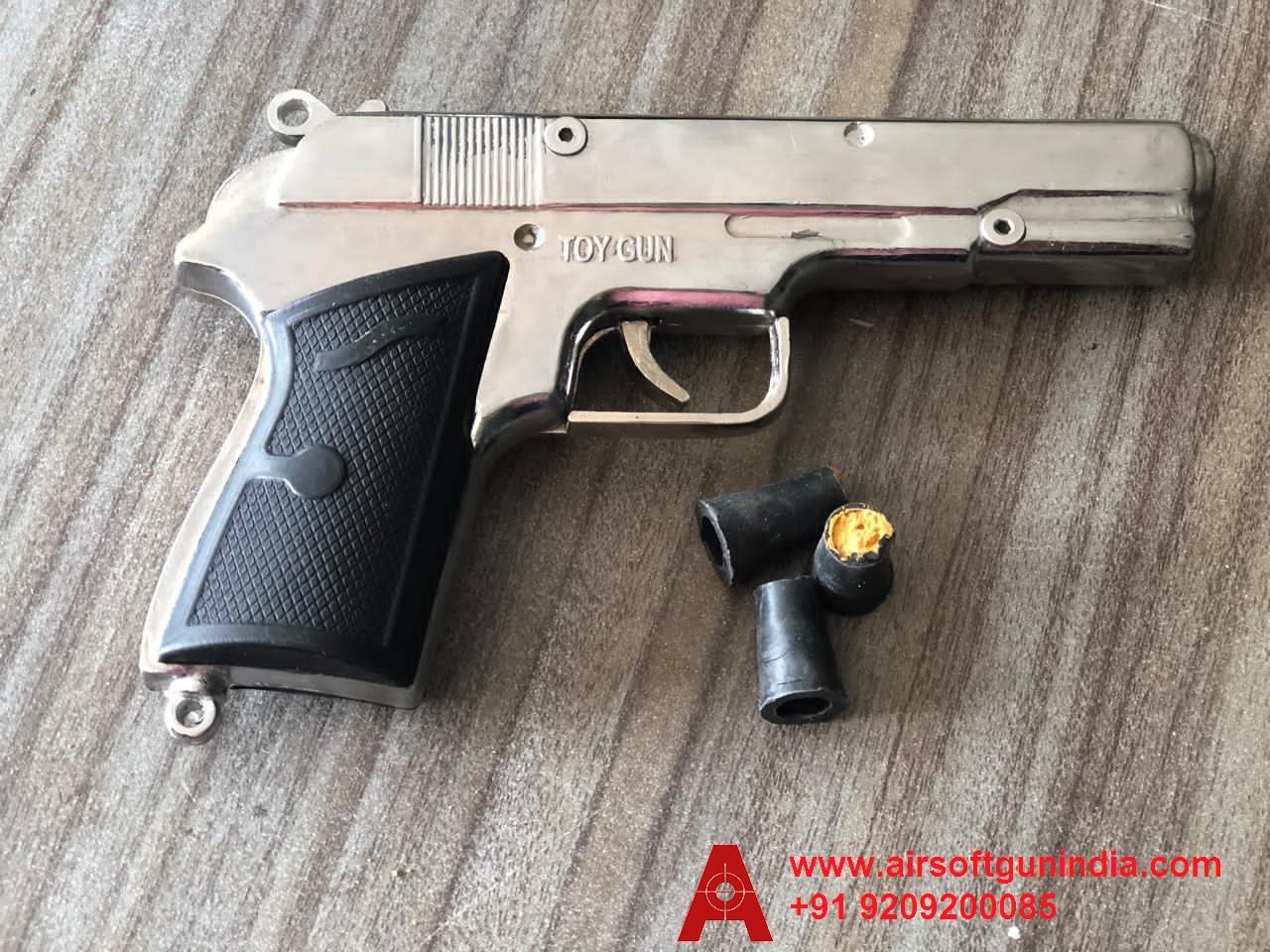 Silver  Cork Toy Gun By Airsoft Gun India