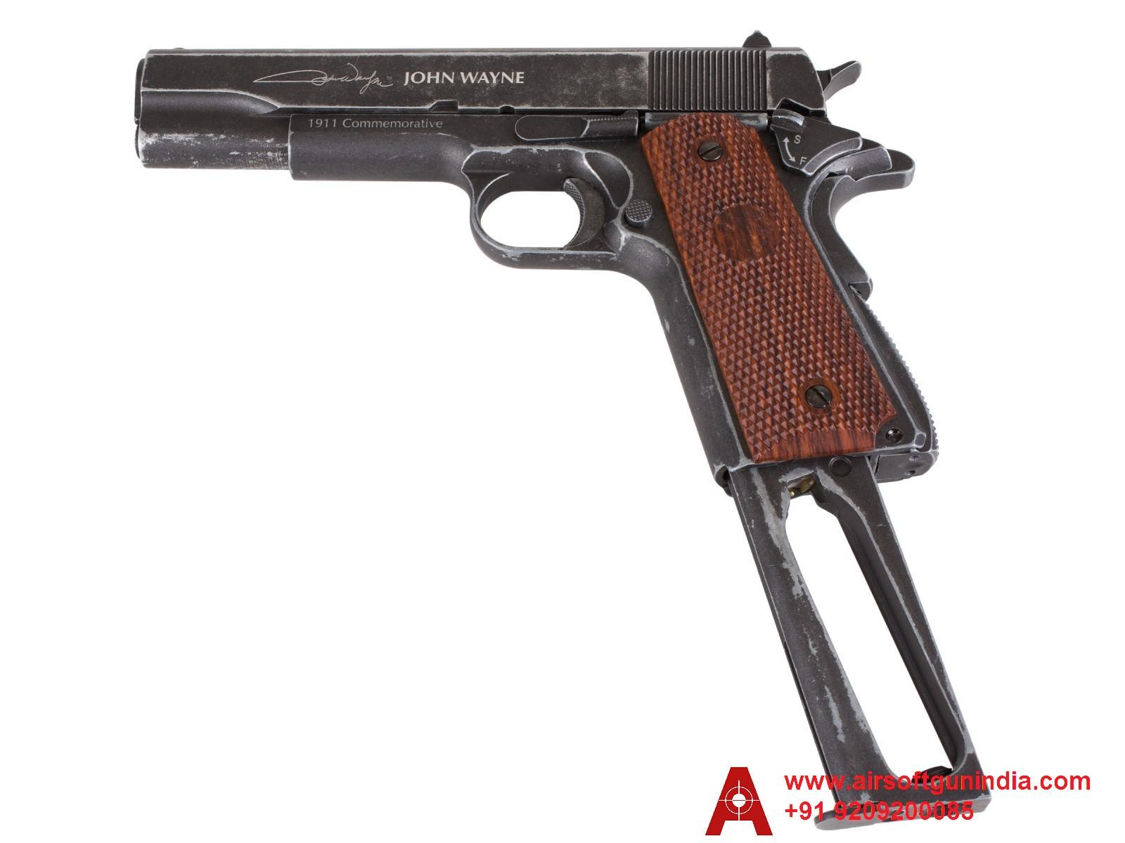John Wayne 1911 Metal CO2 BB Pistol  Brown Grips By Airsoft Gun India