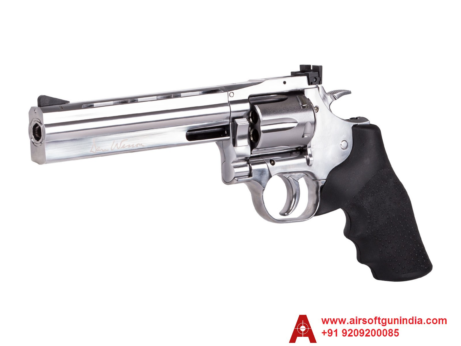 Dan Wesson 715 6 Inch  CO2 BB Revolver Nickel By Airsoft Gun India