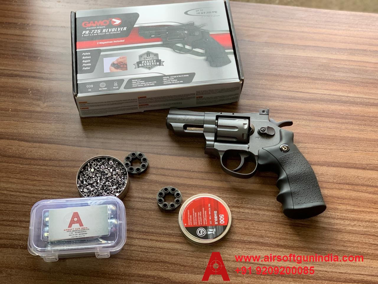 GAMO PR 725 Co2 Pellet Revolver By Airsoft Gun India