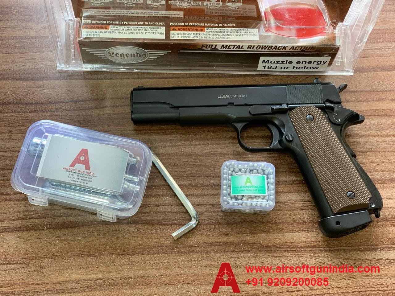 LEGENDS M1911 METAL BLOWBACK CO2 BB AIR PISTOL By Airsoft Gun India