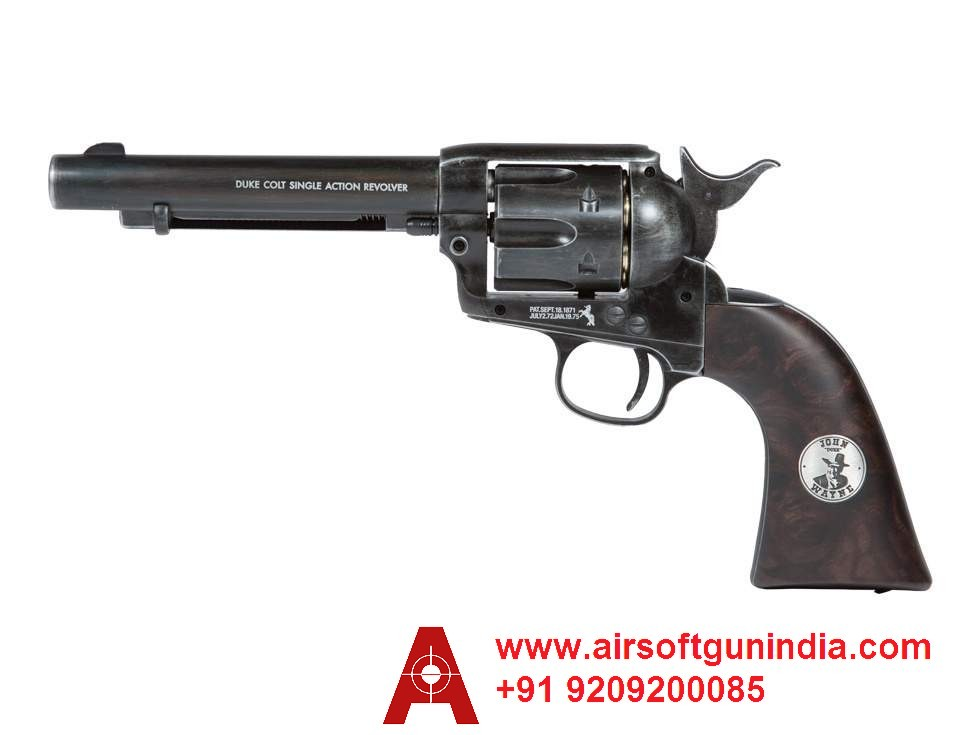 Duke Colt CO2 Pellet Revolver, Weathered By Airsoft Gun India
