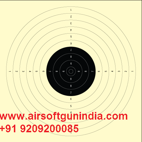 Air Pistol Target Paper (Set Of 100) 10m Air Pistol Target For Shooting Sports