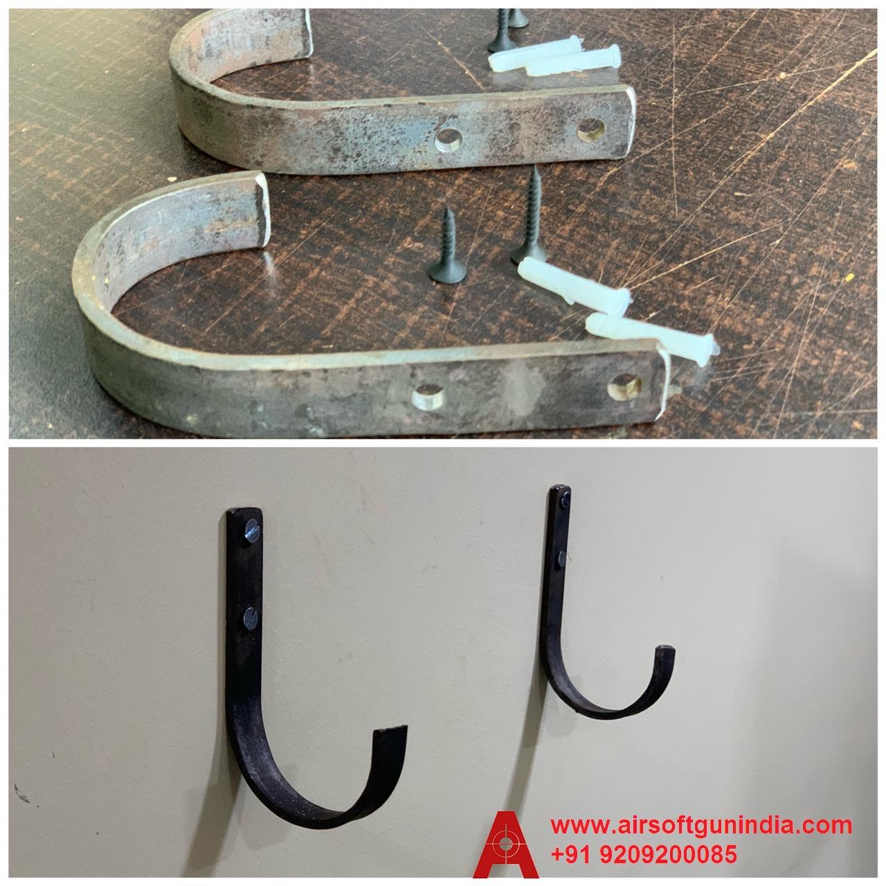 Airsoft Gun India Rilfe  Wall Mount Storage J-Hook  Rifle Shot Gun Hanger