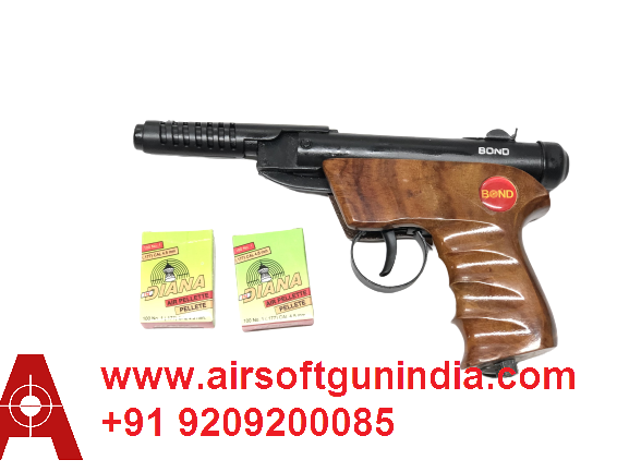 BOND SERIES 2  .177/4.5MM SPORTS AIR PISTOL WOODEN BY AIRSOFT GUN INDIA