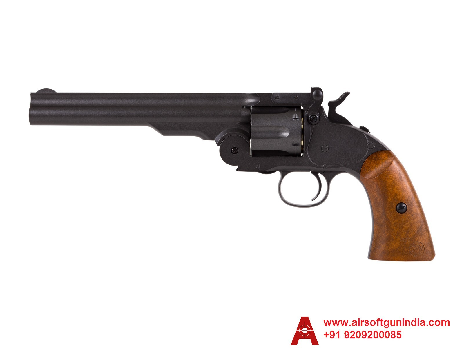 BARRA SCHOFIELD NO. 3 CO2 BB REVOLVER FULL BLACK BY AIRSOFT GUN INDIA