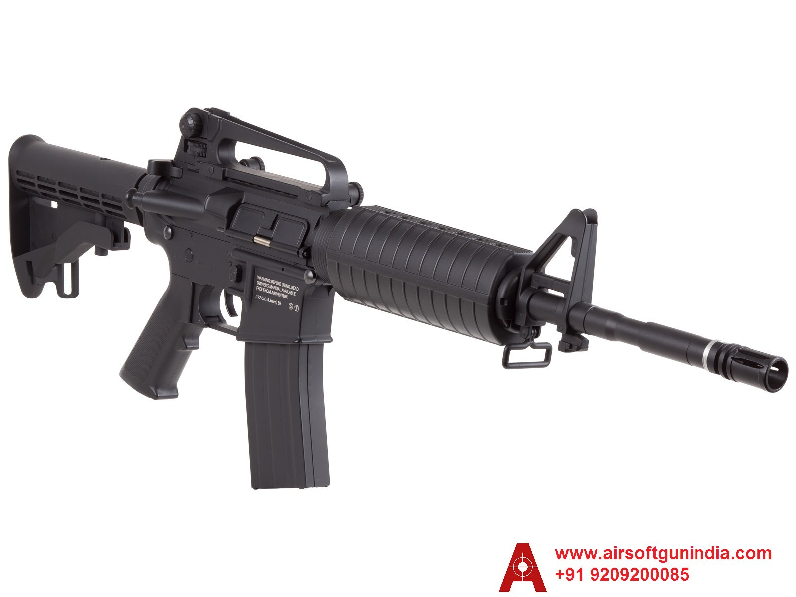 HellBoy M4  .177 CO2 BB Tactical Air Rifle, Black In India By Airsoft Gun India