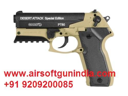 GAMO SEMI-AUTOMATIC PT-80 DESERT ATTACK SPECIAL ATTACK CO2 .177 PISTOL BY AIRSOFT GUN INDIA
