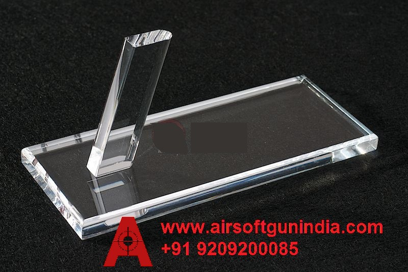 AIRSOFT GUN INDIA  TACTICAL THICK ACRYLIC PISTOL DISPLAY STAND