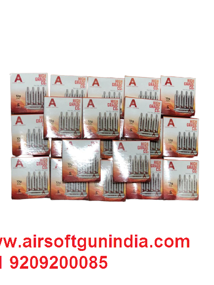 12 G Co2 Cartridges Pack Of 100 For Co2 Guns BY AIRSOFT GUN INDIA