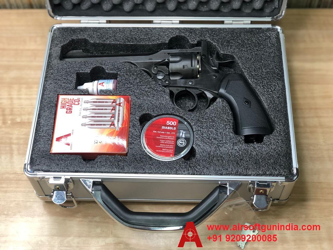 Customized Storage Gun Box For Webley MKVI Co2 Pellet Revolver  By Airsoft Gun India
