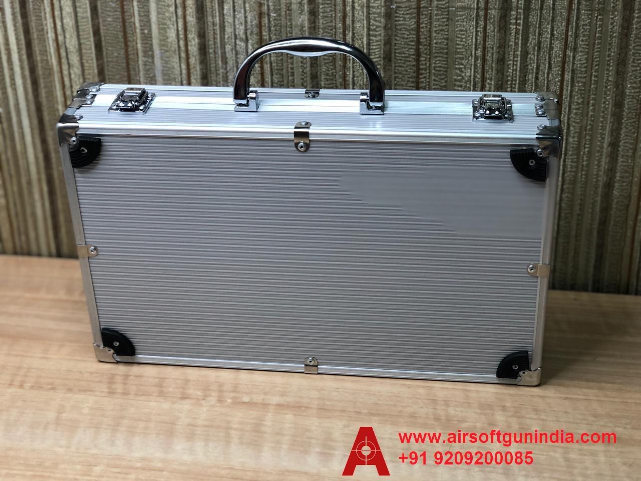 Customized Gun Case For Crosman 1911 CO2 Pellet Pistol Silver By Airsoft Gun India