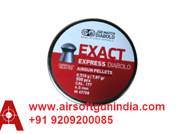 JSB Diabolo Exact Express .177 Cal , 7.87 Grains, 4.5mm Pack Of 4 By Airsoft Gun India