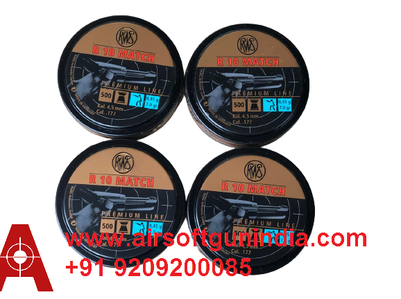 RWS R10 Match Pistol  .177 Cal, 7.0 Grains, 4.5mm, Wadcutter, 500ct Pack Of 4 By Airsoft Gun India