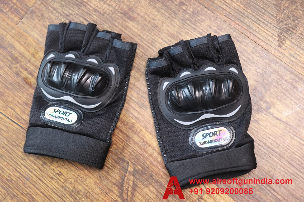 PVC Coated Cotton Gloves From Airsoft Gun India For Sports, Black
