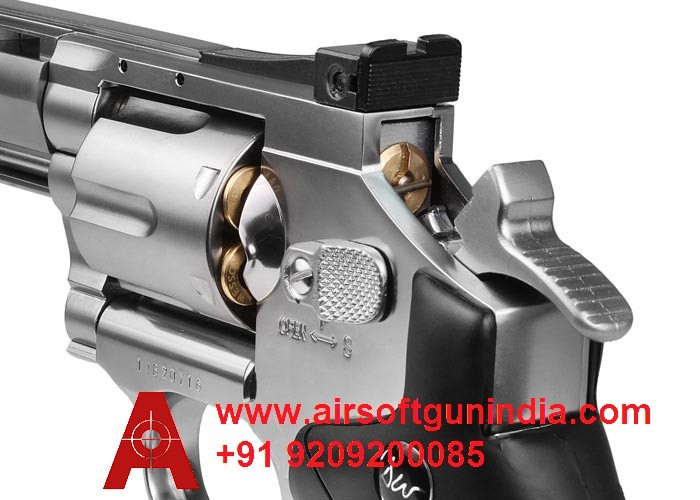 Dan Wesson 6 Inch CO2 Pellet Revolver Silver By Airsoft Gun India